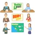 News presenter concept set cartoon style vector image