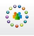 Social glossy button vector image vector image