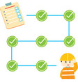 check list safety info graphic vector image