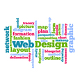 Web Design Tag Word Cloud background vector image vector image