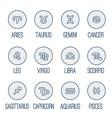 Icons set - Zodiac signs vector image