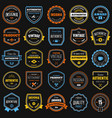 Badges collection vector image vector image