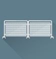 flat metal event fence icon vector image