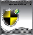 shield security concept background vector image vector image