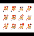 Funny Monster Emotions Set vector image
