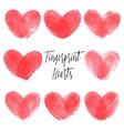 Set of 8 fingerprint hearts vector image