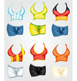 Female tops and bottoms vector image