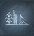 biomass power station chalkboard sketch vector image