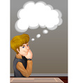 Businessman thinking and thought bubble vector image