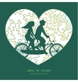 Curly doodle shapes couple on tandem vector image