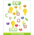 eco vitamins set vector image