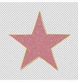 fame star on transparent background vector image