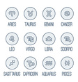Icons set - Zodiac signs vector image