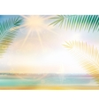 Palm and tropical beach design template vector image