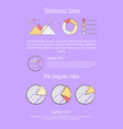 statistics data analysis vector image