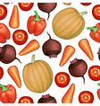 vegetables pattern vector image