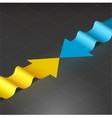 Wavy arrows vector image