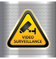 CCTV symbol on a chromium background vector image