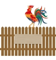 A fence made of wood Notice boards and vector image