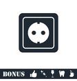 Power socket icon flat vector image