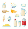 dairy products set vector image