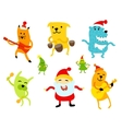 Funny new year musicians animals vector image