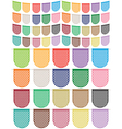 paper bunting set vector image vector image