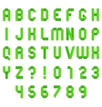 Green Folded Paper Font vector image vector image