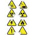 set chemical warning signs vector image vector image