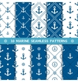 seamless pattern with anchor vector image vector image
