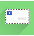 Air mail blank letter envelope flat style vector image