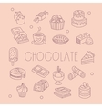 Chocolate Related Object Set With Text vector image