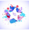 border design with colorful splash of watercolor vector image