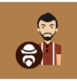 hipster style character bearded hat retro vector image