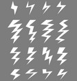 icons of thunder vector image