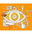 industrial of the mechanism of eye vector image