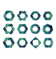 Isolated abstract logo collection Geometric vector image