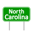 North Carolina green road sign vector image