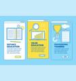 online education application design vector image