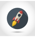 Rocket flat icon vector image