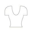 Shirt top icon vector image