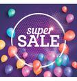 Super Sale poster on pink background vector image vector image