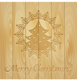 Board with Christmas drawing vector image vector image