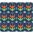 Knit pattern vector image