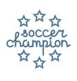 soccer champion decoration vector image