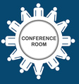 Conference room icon vector image
