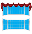 Wide Window with Curtains vector image