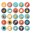 icons flat colors business concept vector image vector image