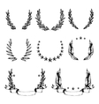 Wreath collection in sketch style vector image