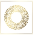 Gold round frame floral decoration made vector image